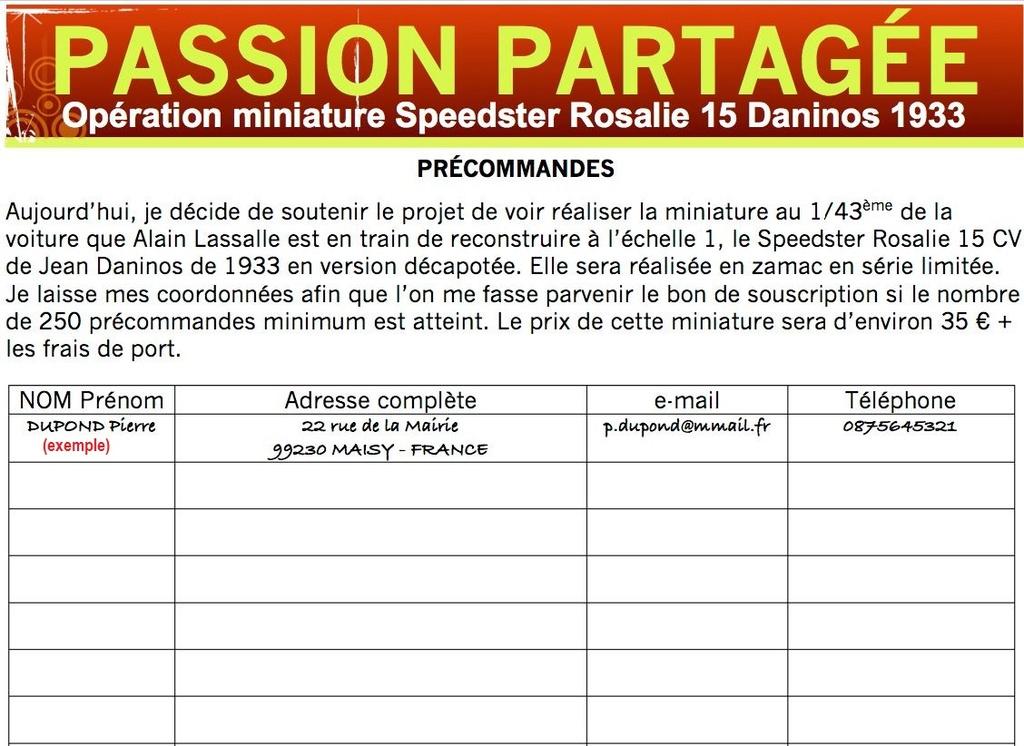 Projet : miniature de la Rosalie 15CV de Jean Daninos au 1/43 5111