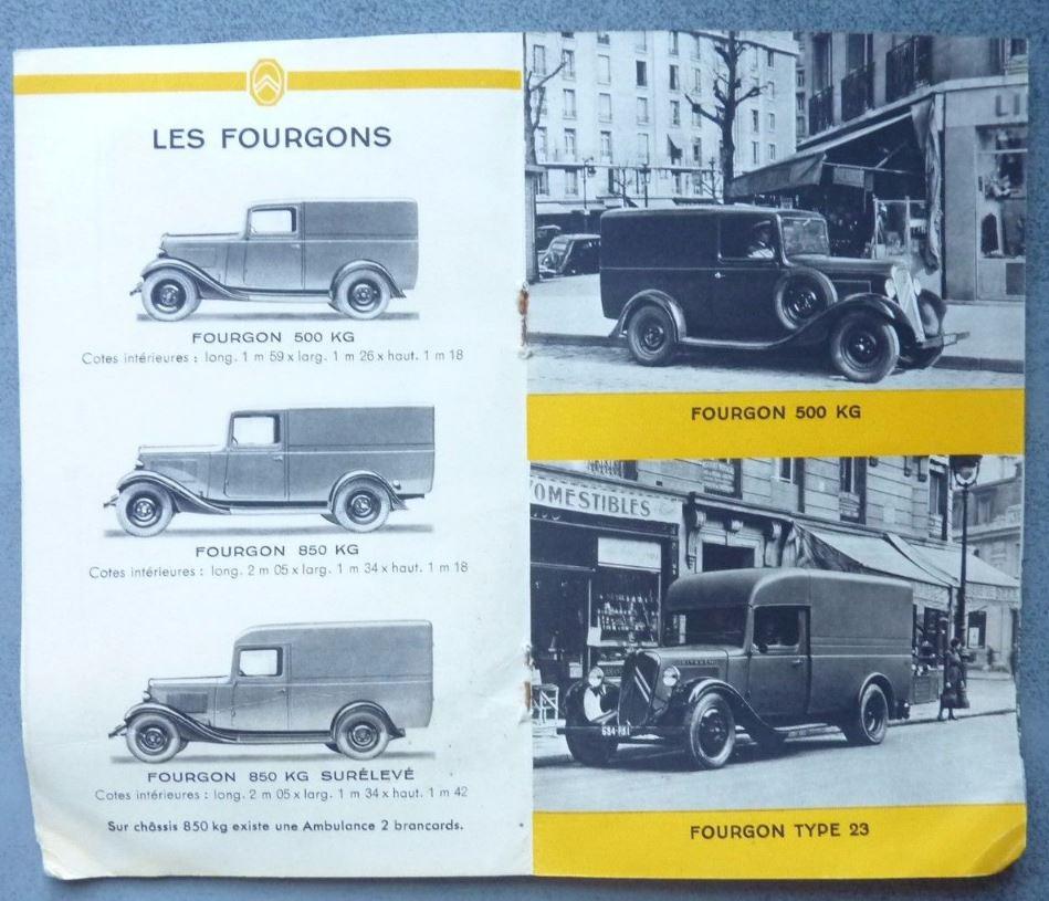 """Brochure """"Utilitaires Citroën"""" 1938 538"""
