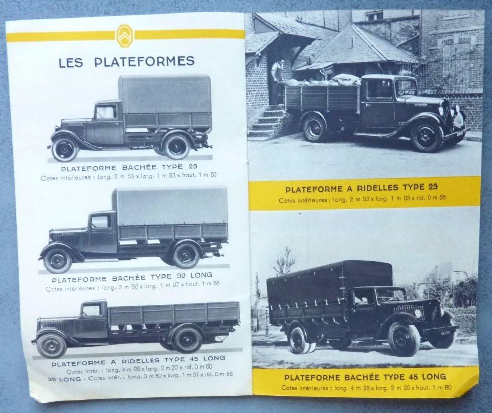 """Brochure """"Utilitaires Citroën"""" 1938 634"""