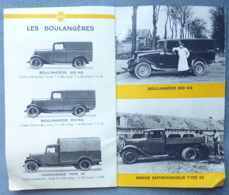 """Brochure """"Utilitaires Citroën"""" 1938 729"""