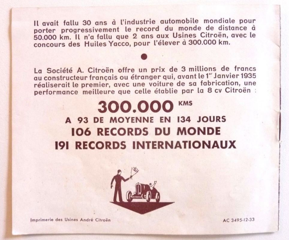 "Brochure ""ROSALIE des records"" de 1933 730"