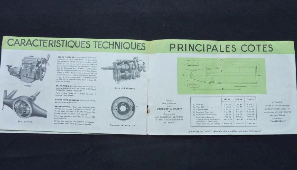 """Brochure """"Utilitaires Citroën"""" 1937 824"""