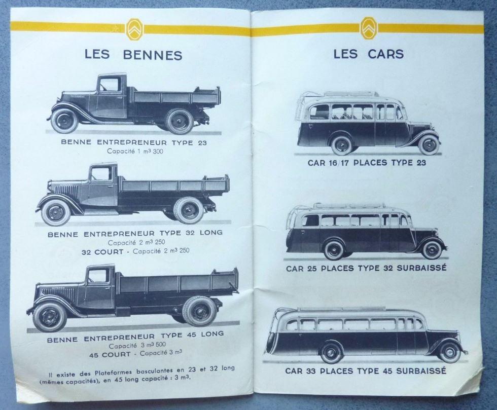 """Brochure """"Utilitaires Citroën"""" 1938 825"""