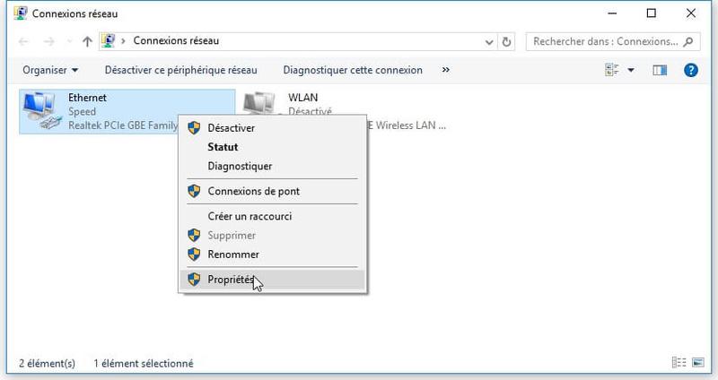 Modifier les serveurs DNS d'une connexion Connex11