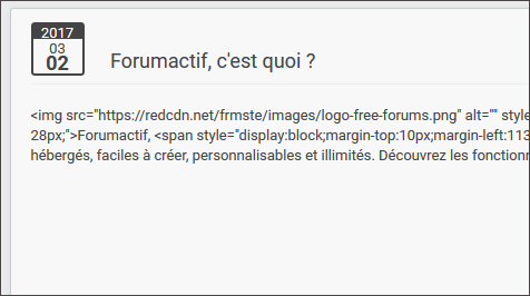 points - Activation du HTML : 3 points de contrôle Html111