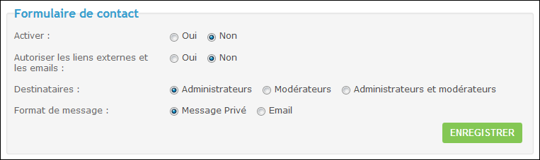 Activer le formulaire de contact Tuto117
