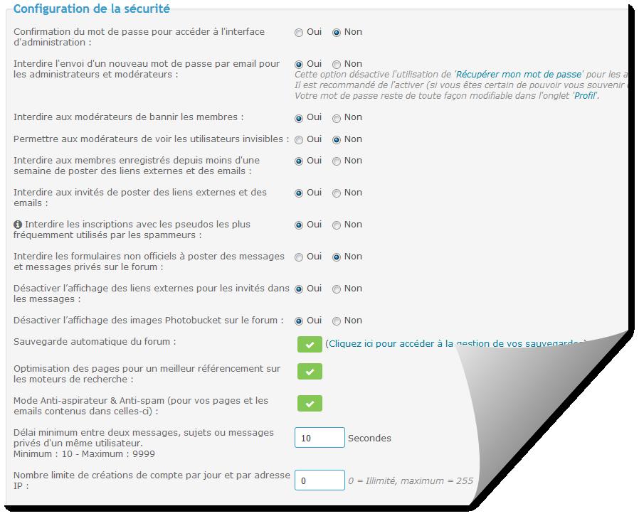 Logs et options de sécurité de votre forum Tuto131