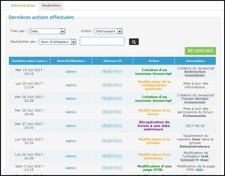 Logs et options de sécurité de votre forum Tuto222