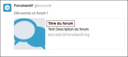Titre et nom du forum Tuto511