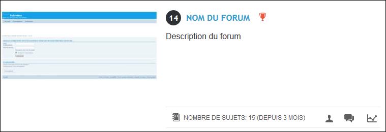 Titre et nom du forum Tuto711