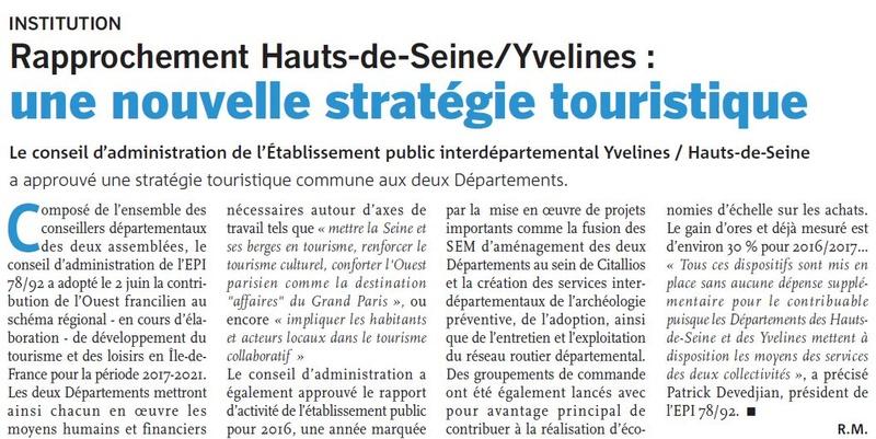 Fusion des départements des Hauts de Seine et des Yvelines Clipb115