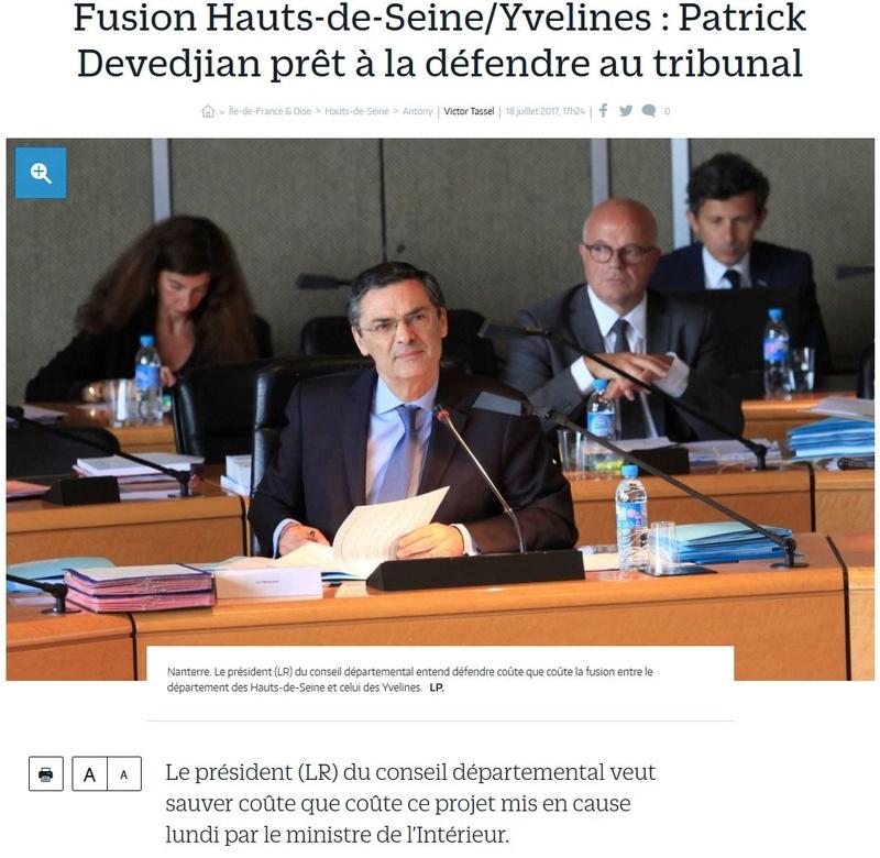 Fusion des départements des Hauts de Seine et des Yvelines Clipb162