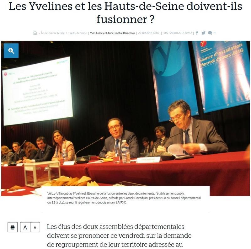 Fusion des départements des Hauts de Seine et des Yvelines Clipbo65