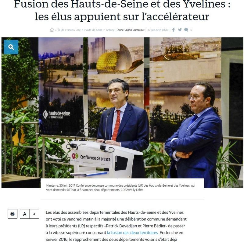 Fusion des départements des Hauts de Seine et des Yvelines Clipbo73