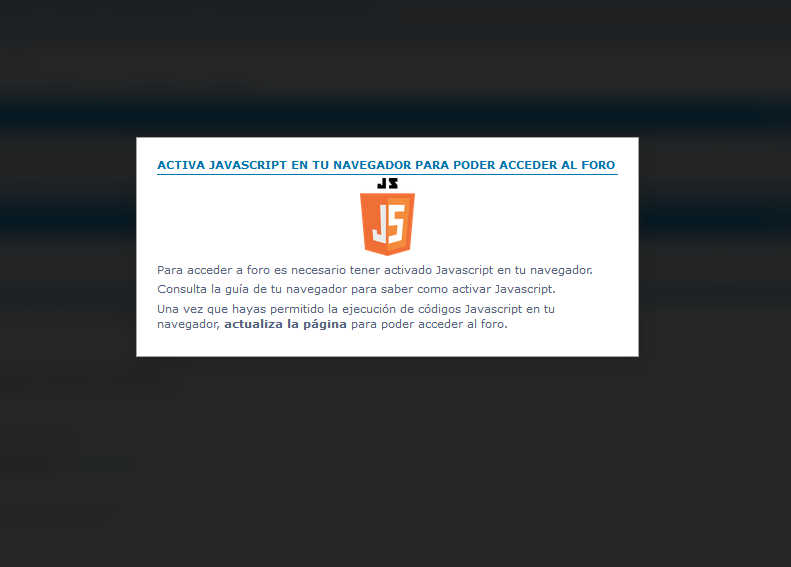 Bloquear el foro a los usuarios sin Javascript activado en el navegador 3c75d610