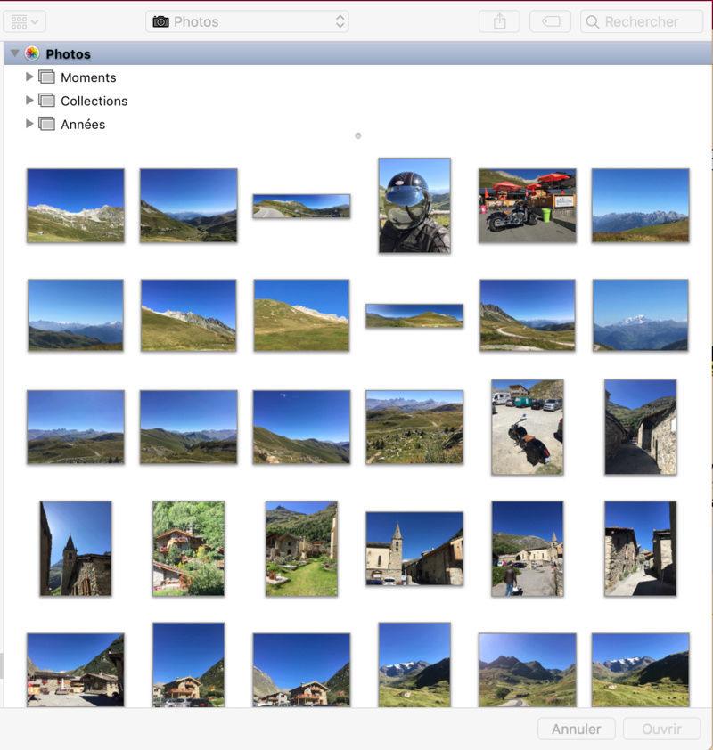 Comment insérer des Photos ?  P310