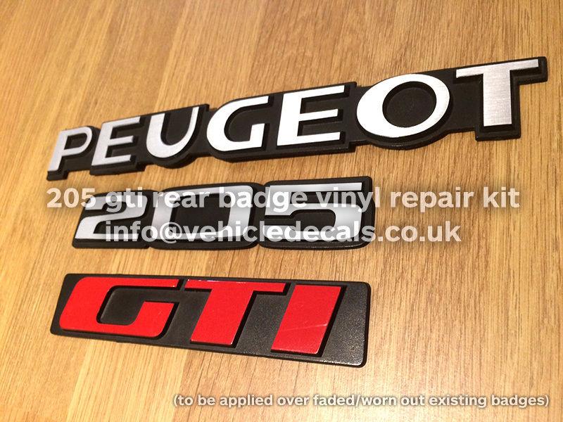 "Monogramme ""PEUGEOT 205 GTI"" peinture ? S-l16010"
