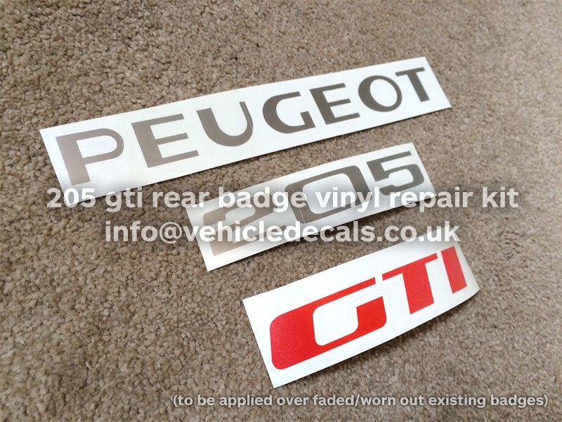 "Monogramme ""PEUGEOT 205 GTI"" peinture ? S-l16012"