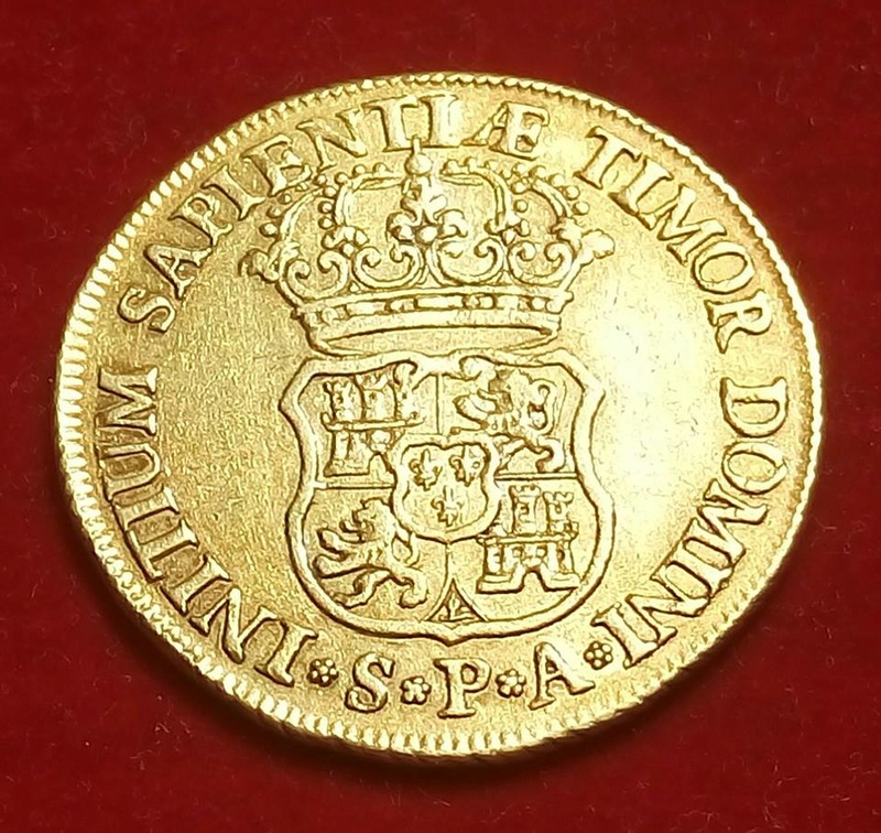 4 escudos Felipe V acuñados en Sevilla en 1733 19396910