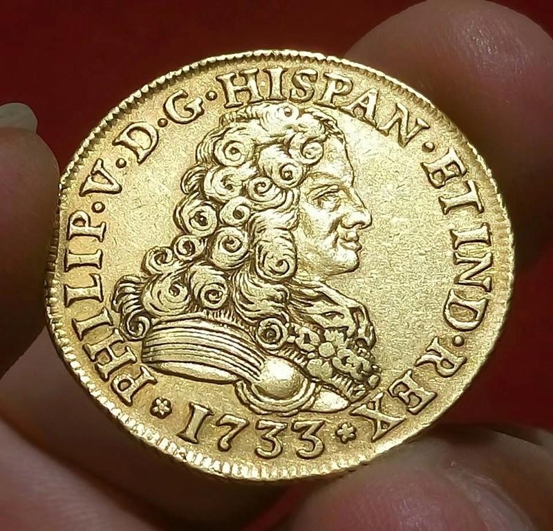 4 escudos Felipe V acuñados en Sevilla en 1733 19400010