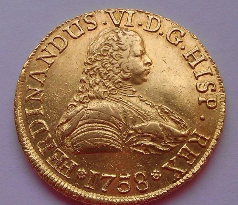 8 Escudos 1758/7 Fernando VI Santiago ( Chile )  20264710