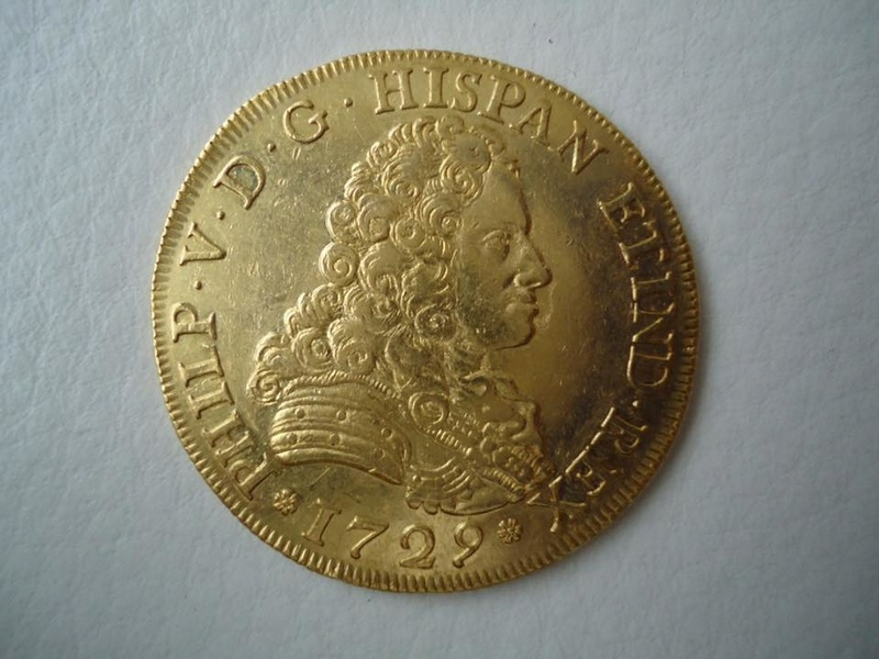 8 escudos 1729 Felipe V (pelucona). Sevilla 20264811