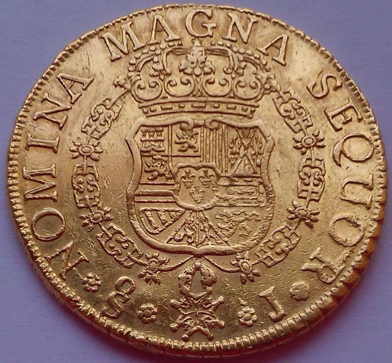 8 Escudos 1758/7 Fernando VI Santiago ( Chile )  20294410