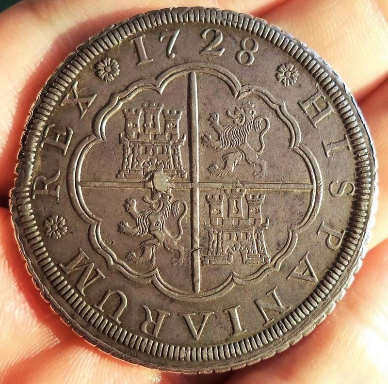 8 reales Felipe V acuñados a rodillo Madrid 1728 20431610