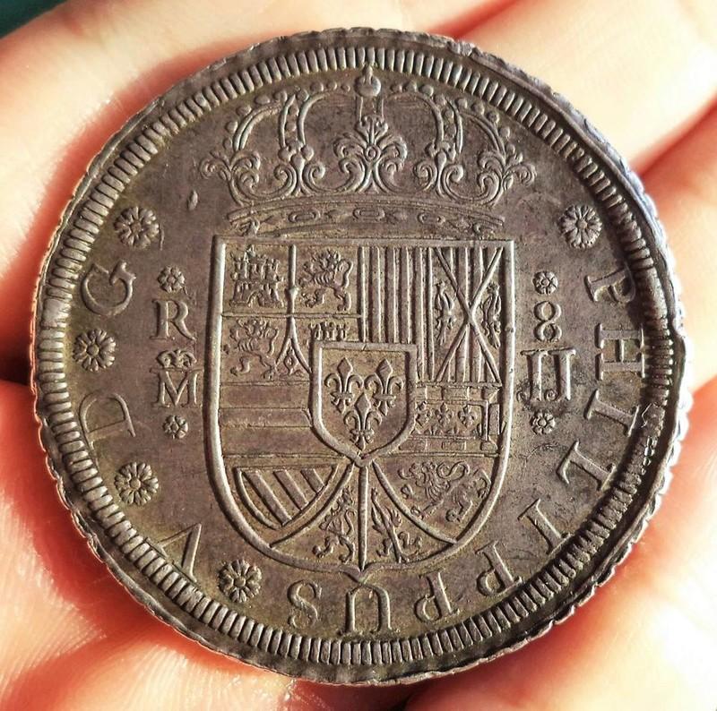 8 reales Felipe V acuñados a rodillo Madrid 1728 20525410