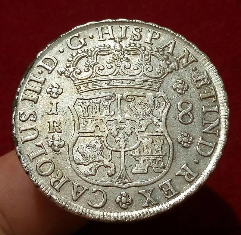 8 reales potosinos Carlos III de 1770. 20953411