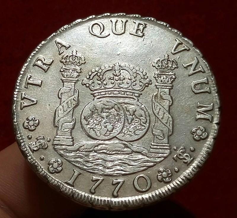 8 reales potosinos Carlos III de 1770. 21032810