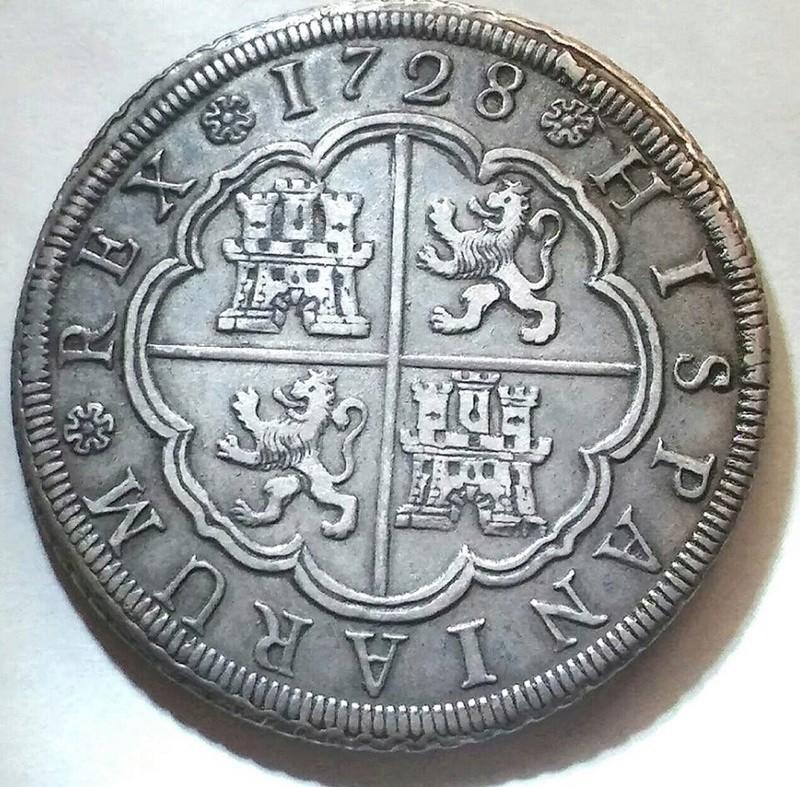 8 reales Felipe V Sevilla. 1728 21231910