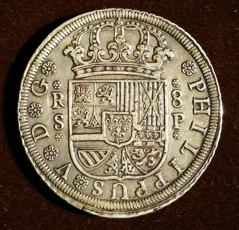 8 reales Felipe V Sevilla. 1728 21314310