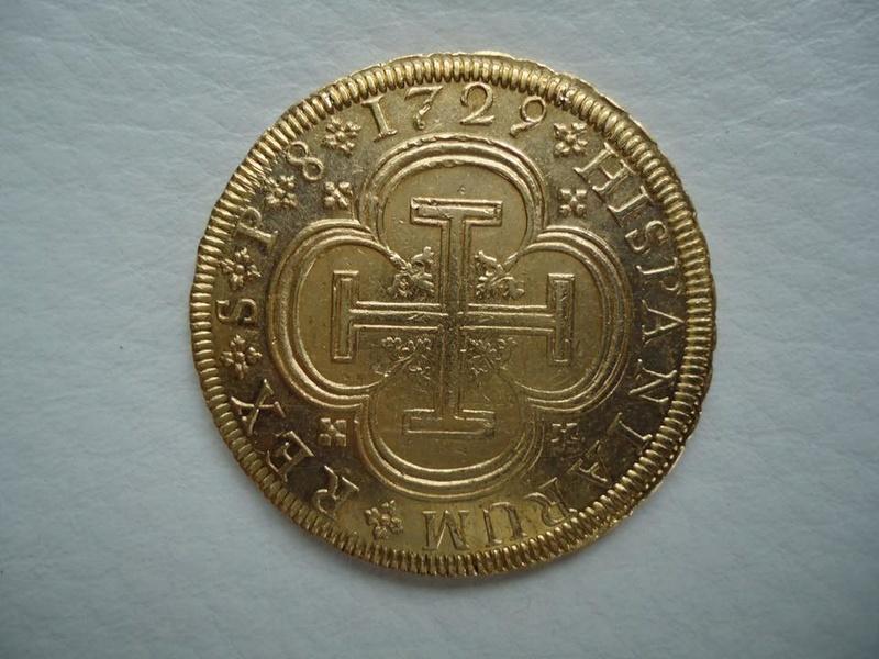 8 escudos 1729 Felipe V (cruz). Sevilla 21616211