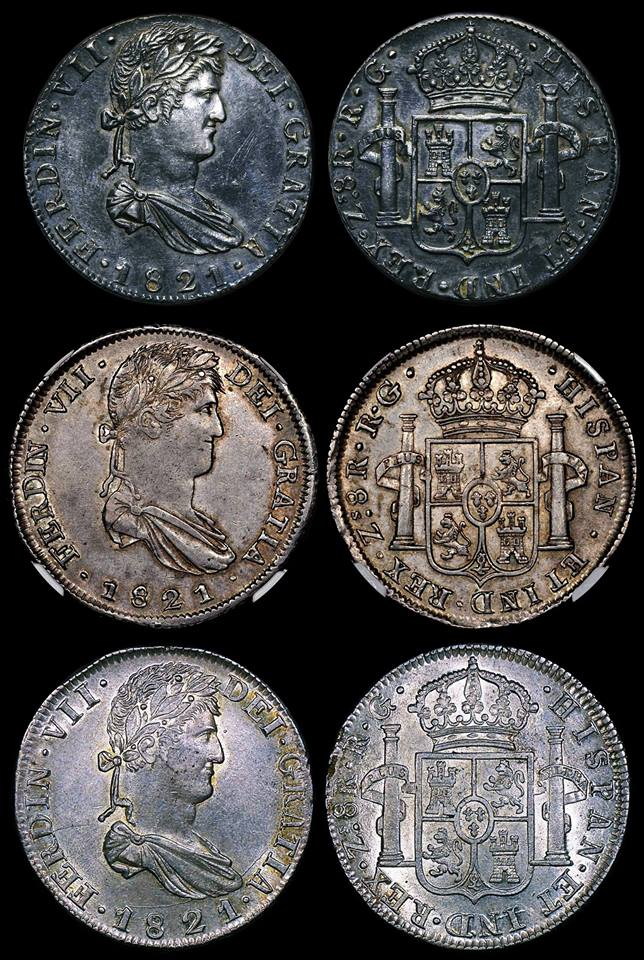 8 reales Fernando VII 1821. Mexico 21728110