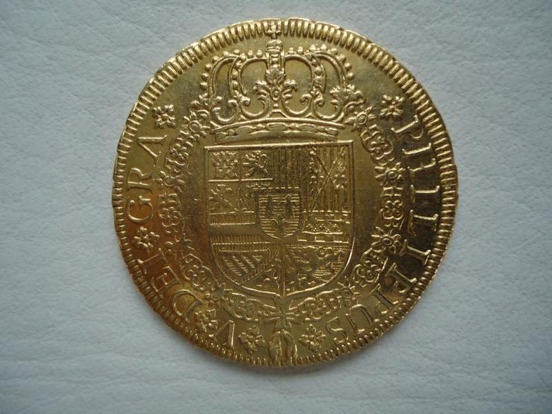 8 escudos 1729 Felipe V (cruz). Sevilla 21752011