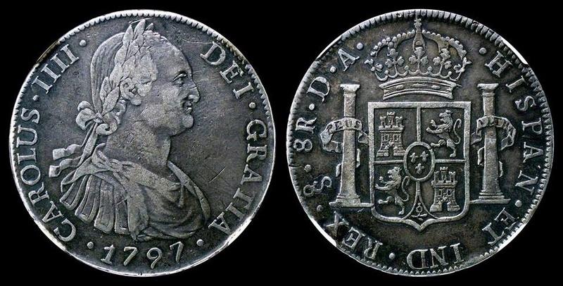 8 reales Carlos IV 1797. Santiago 21752110