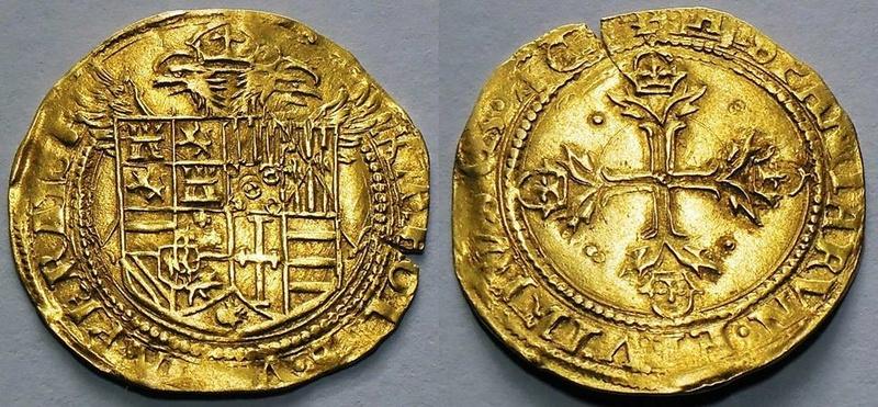 Carlos I (Emperador Carlos v), escudo de oro (ducado) 1536-37. Barcelona 22007510