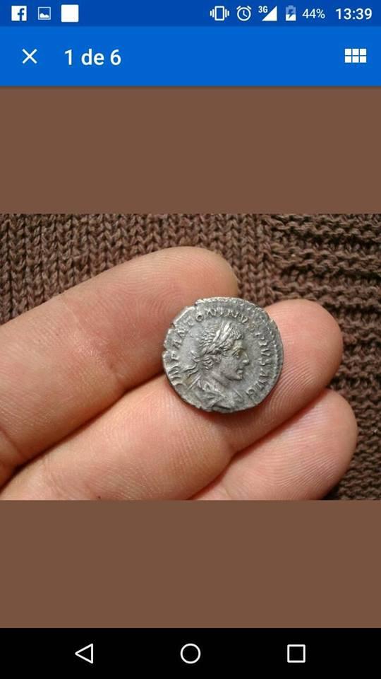 Denario de Caracalla niño (trofeo) 39453410