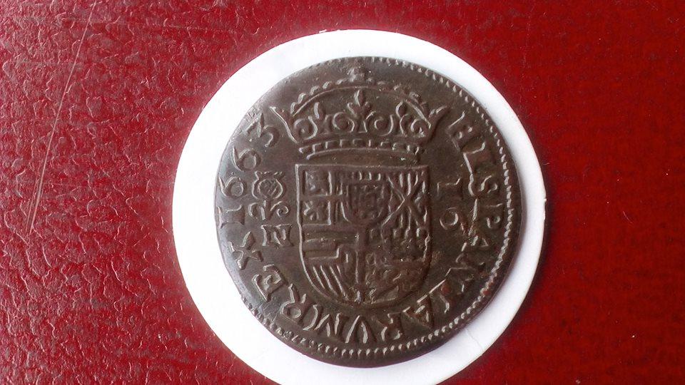 16 maravedís Felipe IV 1663- Granada 41295310