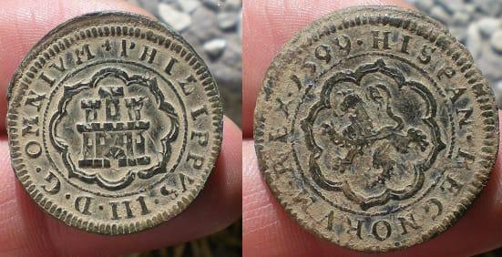 4 maravedís Felipe III 1599. Segovia 42575610