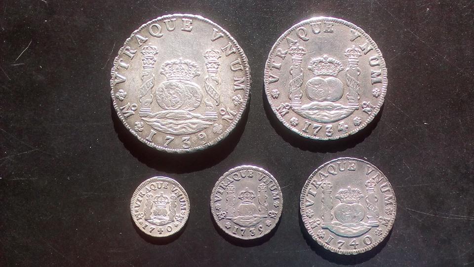 Monedas tipo columnario Felipe V. México 43405711