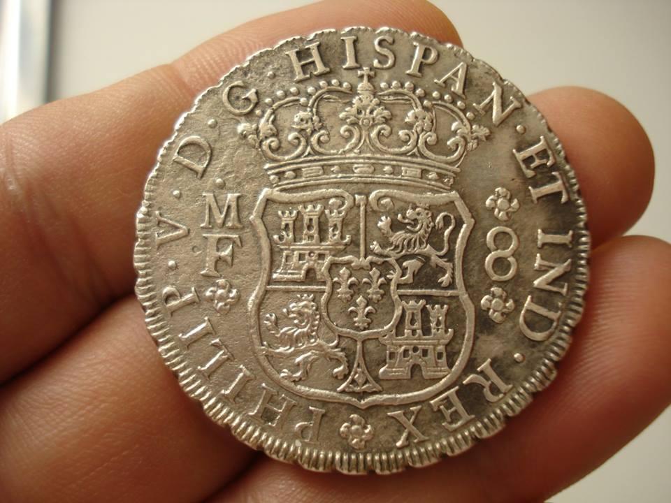 Monedas tipo columnario Felipe V. México 44988310