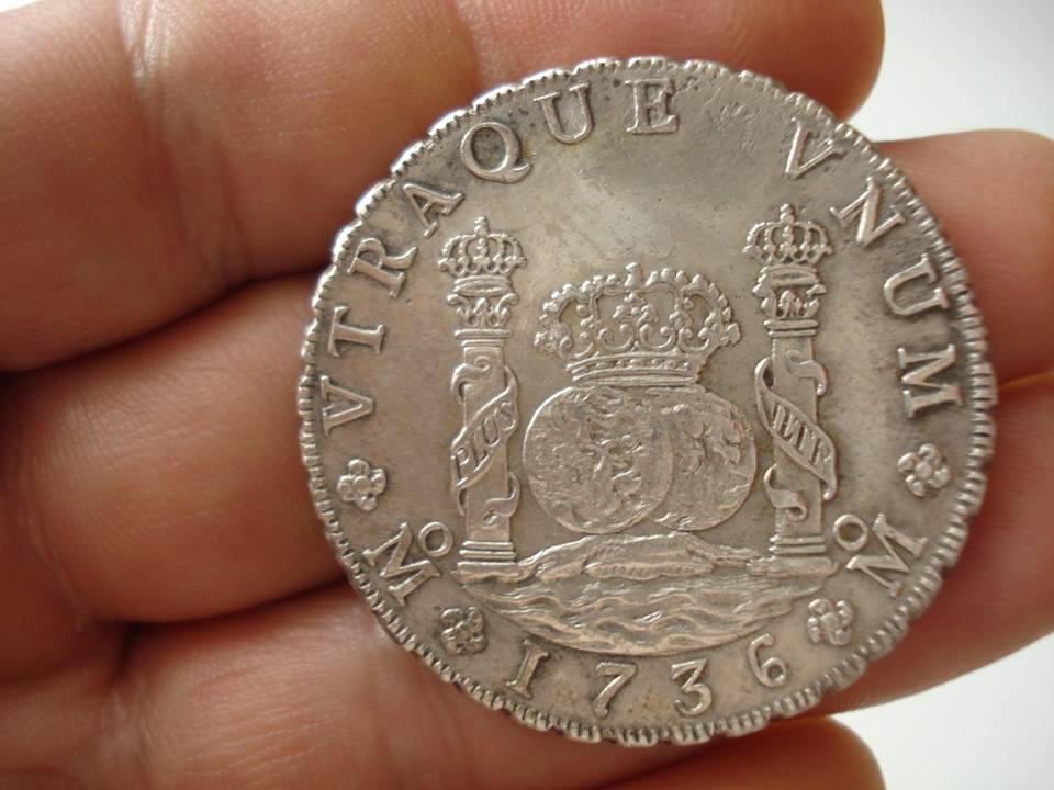 Monedas tipo columnario Felipe V. México 45109410