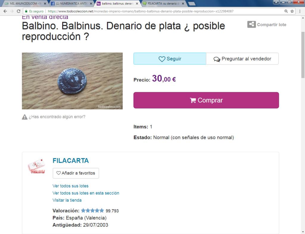 FILACARTA y su magnífica colección de denarios fundidos y bronces guarreados Balbin10