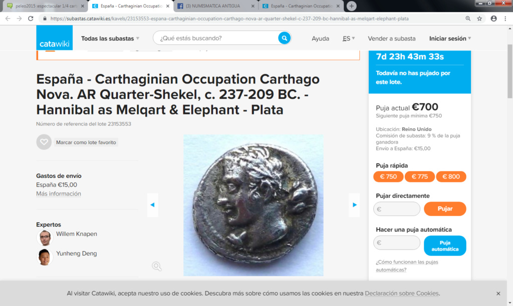 Catawiki :Áureo Nerón, dupondio Germánico, quinario Emerita, etc, etc Caca12
