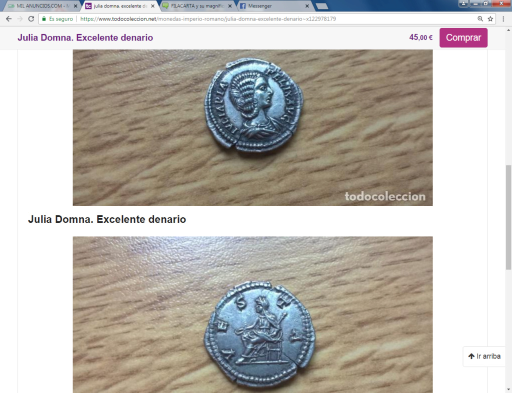 FILACARTA y su magnífica colección de denarios fundidos y bronces guarreados Julita10