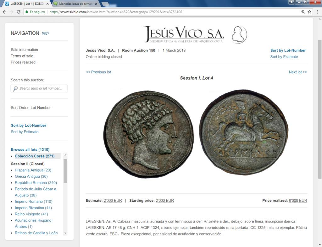 Monedas locas de remate Laiesk10