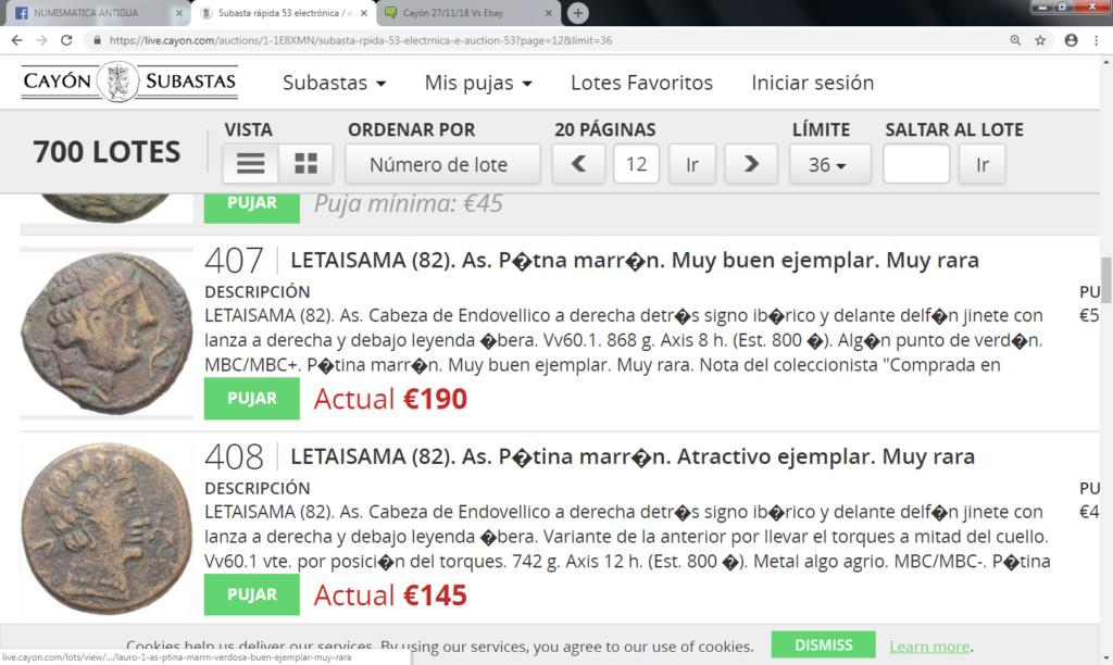 Cayón 27/11/18 Vs Ebay Letais10