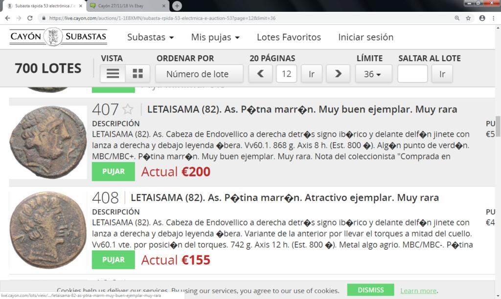 Cayón 27/11/18 Vs Ebay Letais11